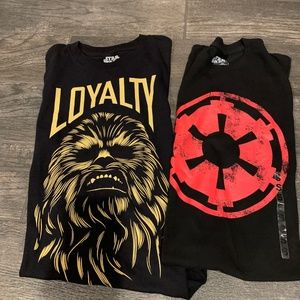 GENTLY USED YOUTH Star Wars SHIRTS (SET OF 2)